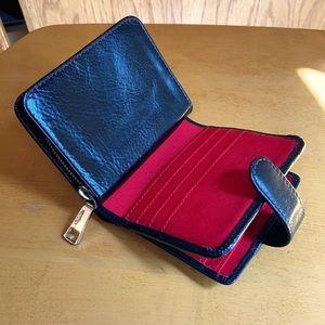 HOBO 🖤 Black Leather Compact Zippy Wallet